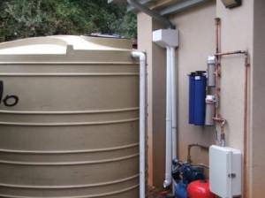 Rainwater tank Swimming pool backwash holding tank