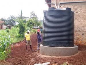 concrete water tank platform