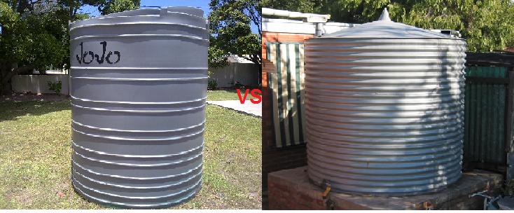 plastic water tanks vs steel water tanks