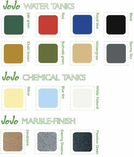 jojo tanks colours