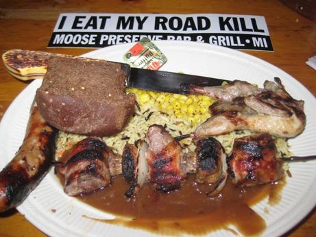 eating roadkill