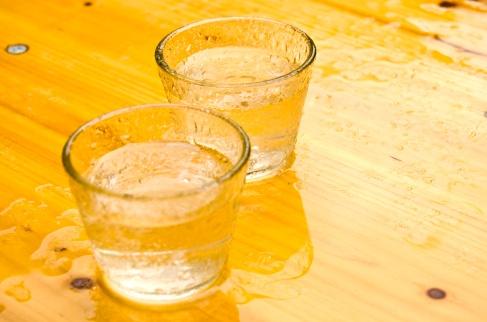 drink rainwater from rain tanks