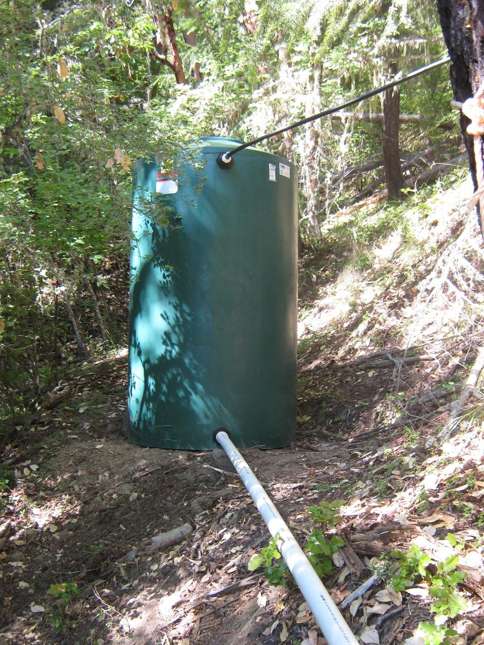 off grid water tank