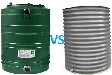 poly vs steel tanks