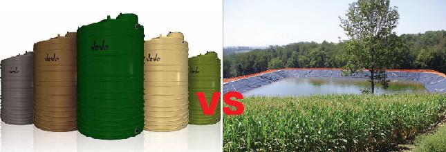 water tanks vs dams